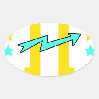 Kidd super hero workout training oval sticker