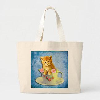 Kiddie in a cup jumbo tote. jumbo tote bag