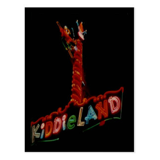 Kiddieland Melrose Pk. Vintage Neon Sign Post Card