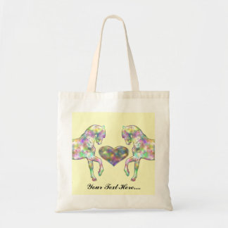 Kiddies Horse and Love Heart Tote Bag