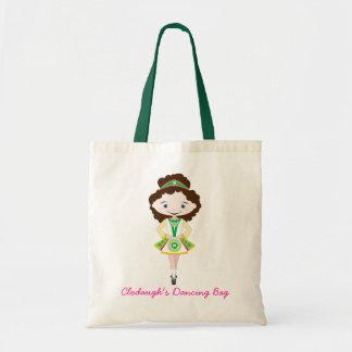KIDLETS irish dancer dancing chestnut brown hair Budget Tote Bag