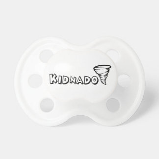 Kidnado Baby Pacifier Black Schoolhouse Font