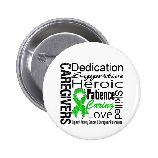 Kidney Cancer Caregivers Collage Button