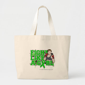 Kidney Cancer Fighter - Fights Like a Girl Jumbo Tote Bag