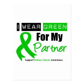 Kidney Cancer I Wear Green For My Partner Postcard