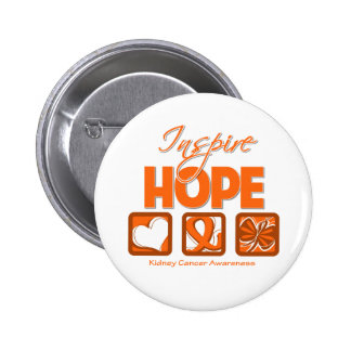 Kidney Cancer Inspire Hope 2 Pinback Button