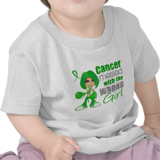 Kidney Cancer Messed With Wrong Girl Green.png Tee Shirt