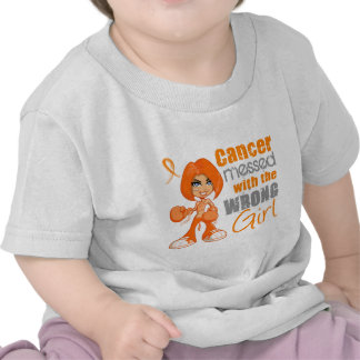 Kidney Cancer Messed With Wrong Girl.png T Shirts