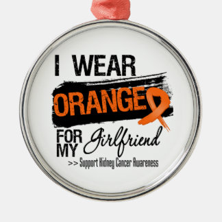 Kidney Cancer Ribbon Girlfriend Ornament