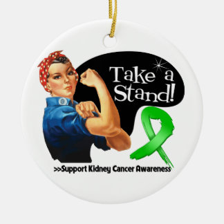 Kidney Cancer Take a Stand Christmas Tree Ornaments