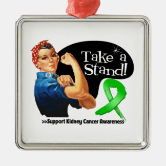 Kidney Cancer Take a Stand Christmas Ornaments