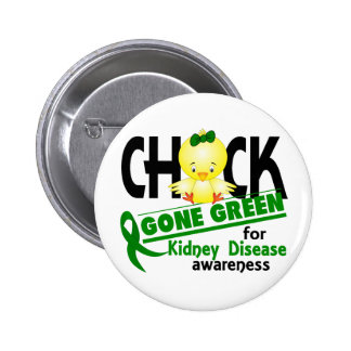 Kidney Disease Chick Gone Green 2 Pin