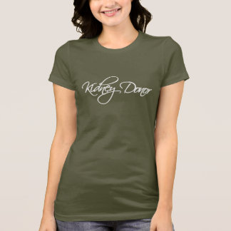 Kidney Donor - White Script T-Shirt