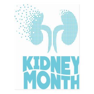 Kidney Month - Appreciation Day Postcard