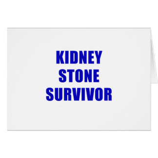 Kidney Stone Survivor Card