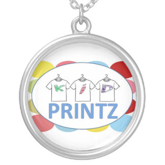 KidPrintz.com Logo Round Pendant Necklace