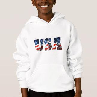KIDS 3D USA FLAG Patriotic Retro Hoodie Sweatshirt