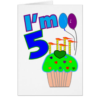 Kids 5 year old Birthday shirts and gifts Card