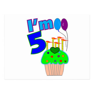 Kids 5 year old Birthday shirts and gifts Postcard