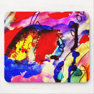 Kids Abstract Art Rainbow Fish in Colorful Sea Mouse Pad