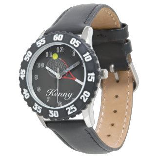 Kid's Adjustable Bezel Stainless Tennis Watch