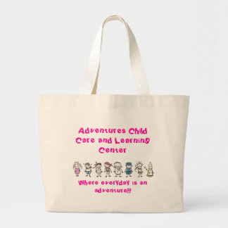 kids, Adventures Child Care and Le... - Customized Large Tote Bag