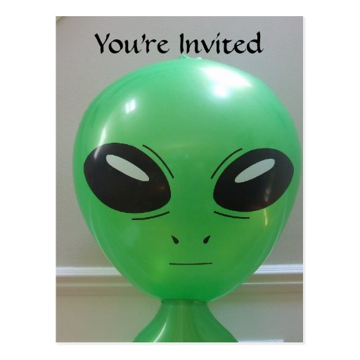 Kids Alien Birthday Postcard