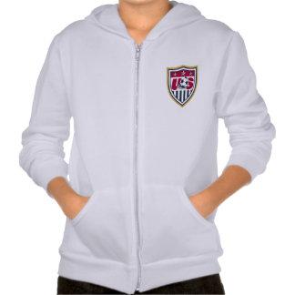 Kids' American Apparel California Fleece Zip Hoodi Hooded Sweatshirts