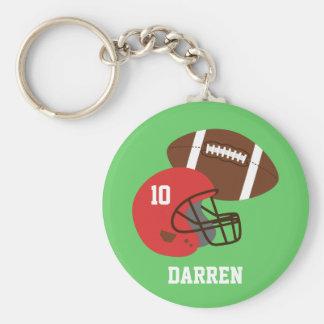 Kids American Football Helmet Name Key Ring