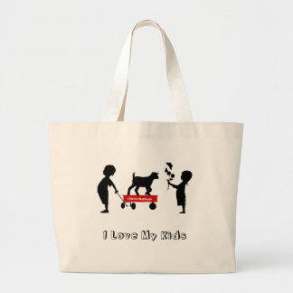 Kids and Goat Totes MaGoat Little Red Wagon Jumbo Tote Bag