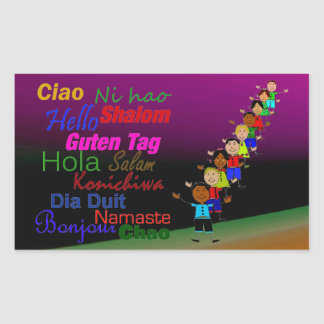 Kids And Hello In Many Languages Sticker