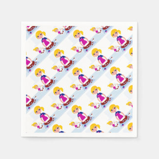 Kids and mothers party accesories paper napkins
