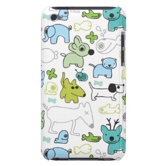 kids animal background pattern barely there iPod covers