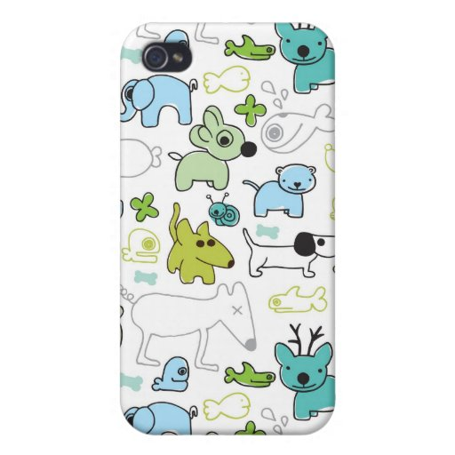 kids animal background pattern iPhone 4 covers