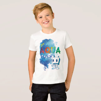Kid's Aqua Robot T-shirt