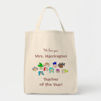 "Kids Art, Personalized ""Teacher of the Year"" Bag"