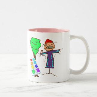 Kids Art T Shirts and Kids Gifts Two-Tone Coffee Mug