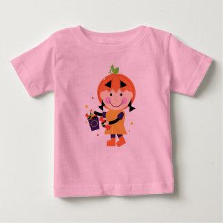 Kids artistic T-Shirt with Painted Pumpkinhead Gir