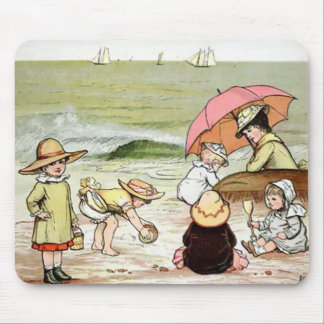 Kids At the Beach Mouse Pad