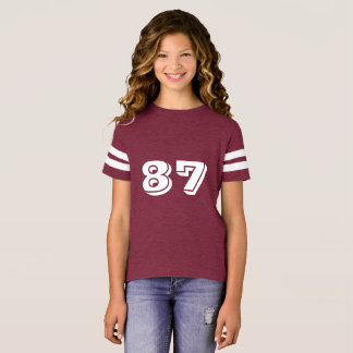Kids' Augusta Retro Striped Sleeve T-Shirt