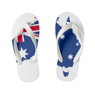 Kids Australia Map Thongs