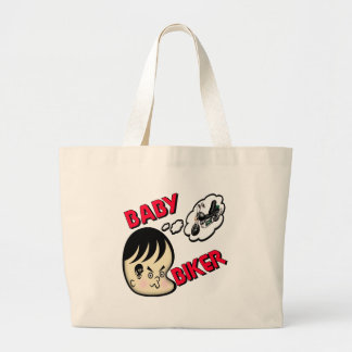Kids Baby Biker Tote Bag
