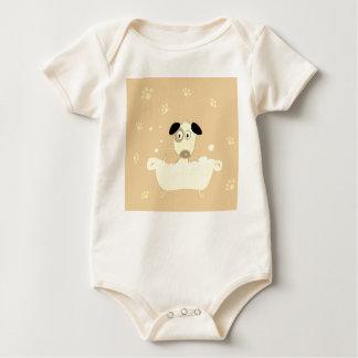 Kids baby body with Dog Baby Bodysuit