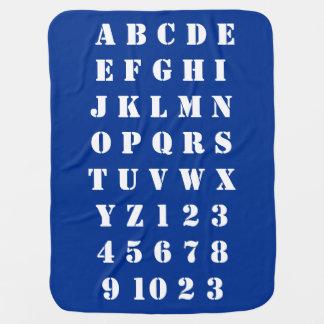Kids Baby Children Alphabets Numbers Cosy Baby Blanket