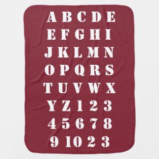 Kids Baby Children Alphabets Numbers Cosy Buggy Blanket