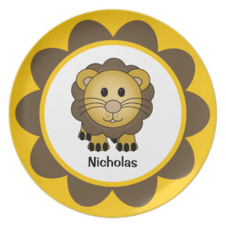 Kids' Baby Lion Personalized Melamine Plate