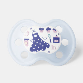 Kids baby pacifier with Kitchen goods