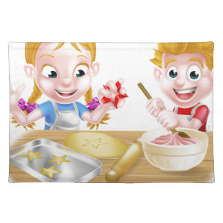 Kids Baking Cakes and Cookies Placemat