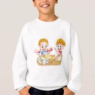 Kids Baking Cakes and Cookies Sweatshirt