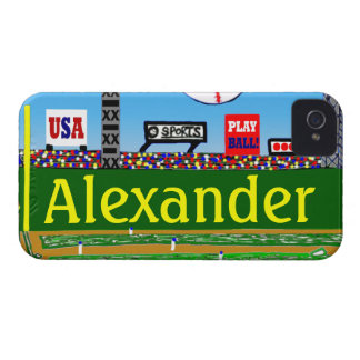 Kids Baseball Personalized iPhone 4 & 4s Case Gift iPhone 4 Case-Mate Case